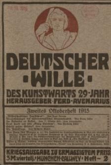 Deutscher Wille, Oktober 1915, H. 2.