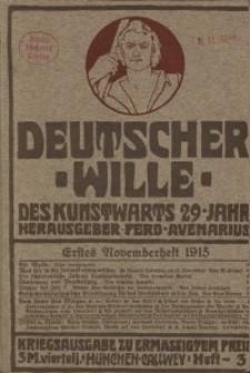 Deutscher Wille, November 1915, H. 3.