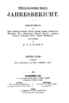 Theologischer Jahresbericht, 1891