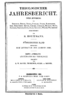 Theologischer Jahresbericht, 1895, Abteilung 3.