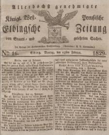 Elbingsche Zeitung, No. 16 Montag, 23 Februar 1829