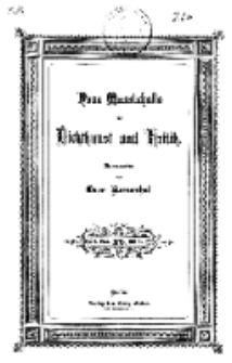 Neue Monatshefte für Dichtkunst und Kritik, 1875, Bd. 1, H. 5.