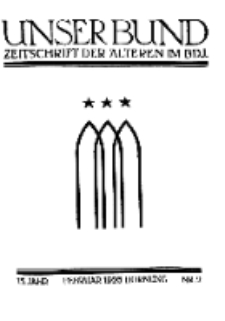 Unser Bund: Älterenblatt des Bundes deutscher Jugendvereine, Jg. 15. Februar 1926, Nr 2.