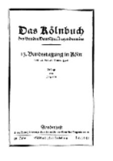 Unser Bund: Älterenblatt des Bundes deutscher Jugendvereine, Jg. 15. Oktober/November 1926, Nr 10/11.