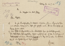 Straż Lotnicza - Magistrat w Elblągu - korespondencja (22.01.1932 r.)