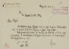 Straż Lotnicza - Magistrat w Elblągu - korespondencja (12.12.1931 r.)