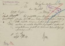 Straż Lotnicza - Magistrat w Elblągu - korespondencja (24.11.1931 r.)