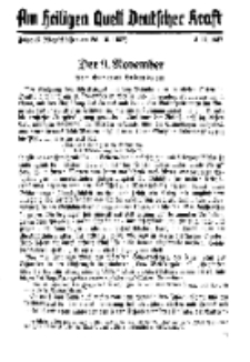 Am Heiligen Quell Deutscher Kraft, 5. November 1937, Folge 15.