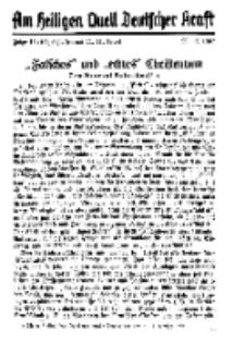 Am Heiligen Quell Deutscher Kraft, 20. November 1937, Folge 16.