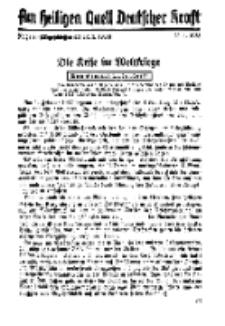 Am Heiligen Quell Deutscher Kraft, 20. Januar 1938, Folge 20.