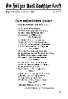 Am Heiligen Quell Deutscher Kraft, 20. Februar 1938, Folge 22.