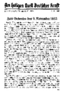 Am Heiligen Quell Deutscher Kraft, 5. November 1938, Folge 15.