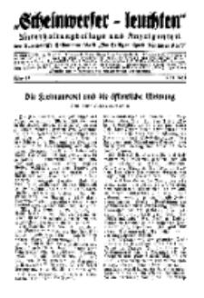"""""""Scheinwerfer-Leuchten""""...Am Heiligen Quell Deutscher Kraft, 5. November 1938, Folge 15."""