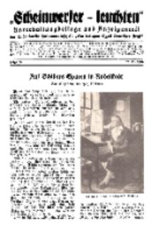"""""""Scheinwerfer-Leuchten""""...Am Heiligen Quell Deutscher Kraft, 20. November 1938, Folge 16."""