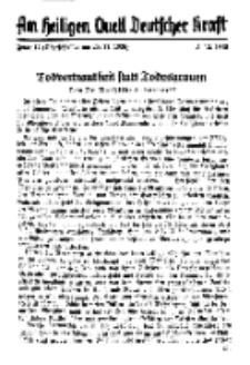 Am Heiligen Quell Deutscher Kraft, 5. Dezember 1938, Folge 17.