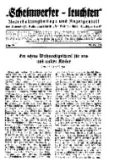 """""""Scheinwerfer-Leuchten""""...Am Heiligen Quell Deutscher Kraft, 20. Dezember 1938, Folge 18."""