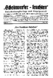 """""""Scheinwerfer-Leuchten""""...Am Heiligen Quell Deutscher Kraft, 20. Januar 1939, Folge 20."""