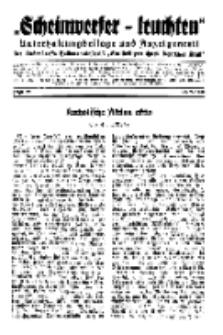 """""""Scheinwerfer-Leuchten""""...Am Heiligen Quell Deutscher Kraft, 20. Februar 1939, Folge 22."""