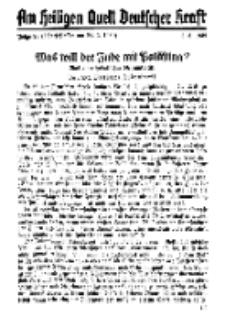 Am Heiligen Quell Deutscher Kraft, 5. März 1939, Folge 23.