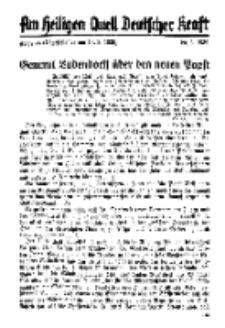 Am Heiligen Quell Deutscher Kraft, 20. März 1939, Folge 24.