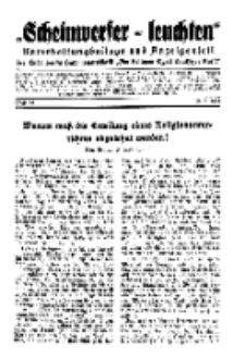 """""""Scheinwerfer-Leuchten""""...Am Heiligen Quell Deutscher Kraft, 20. März 1939, Folge 24."""