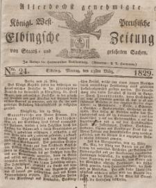 Elbingsche Zeitung, No. 24 Montag, 23 März 1829