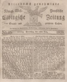 Elbingsche Zeitung, No. 25 Donnerstag, 26 März 1829