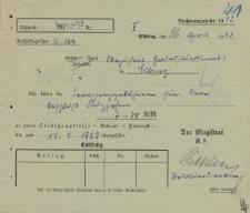 Straż Lotnicza - Magistrat w Elblągu - korespondencja (26.04.1932 r.)