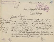 Straż Lotnicza - Magistrat w Elblągu - korespondencja (26.11.1931 r.)