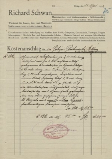 "Firma ""Richard Schwan"" - korespondencja (14.05.1932 r.)"