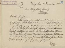 Straż Lotnicza - Magistrat w Elblągu - korespondencja (11.11.1931 r.)