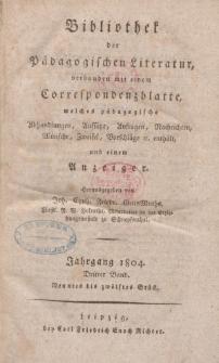 Bibliothek der pädagogischen Literatur, 1804, Bd. 3.