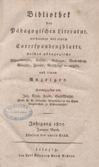 Bibliothek der pädagogischen Literatur, 1805, Bd. 2.