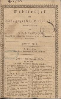 Bibliothek der pädagogischen Literatur, 1803, Bd. 1.