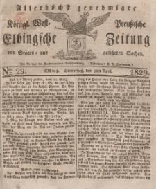 Elbingsche Zeitung, No. 29 Donnerstag, 9 April 1829