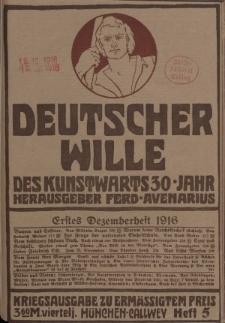 Deutscher Wille, Dezember 1916, H. 5.