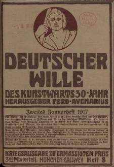 Deutscher Wille, Januar 1917, H. 8.