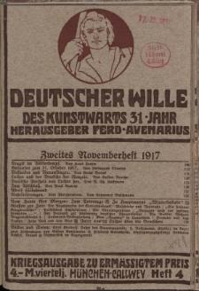 Deutscher Wille, November 1917, H. 4.