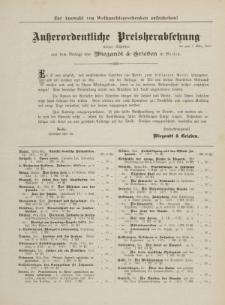 Ausserordentliche Preisherabsetzung etlicher Schriften aus dem Berlage von Wiegandt & Grieben in Berlin [ulotka]