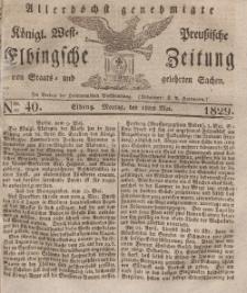 Elbingsche Zeitung, No. 40 Montag, 18 Mai 1829