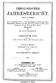 Theologischer Jahresbericht, 1893, Abteilung 3.