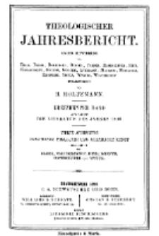Theologischer Jahresbericht, 1893, Abteilung 4.