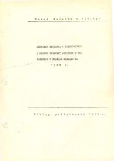 Aktualna sytuacja w zatrudnieniu i główne kierunki polityki w tym zakresie w mieście Elblągu na 1980 r. - broszura