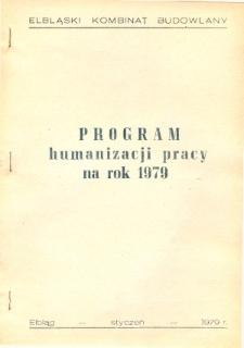 Program humanizacji pracy na rok 1979 - broszura