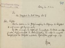 Straż Lotnicza - Magistrat w Elblągu - korespondencja (08.07.1932 r.)