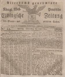 Elbingsche Zeitung, No. 43 Donnerstag, 28 Mai 1829