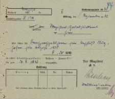 Straż Lotnicza - Magistrat w Elblągu - korespondencja (08.09.1932 r.)