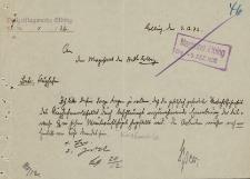 Straż Lotnicza - Magistrat w Elblągu - korespondencja (03.12.1932 r.)