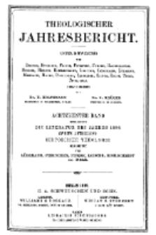 Theologischer Jahresbericht, 1898, Abteilung 2.