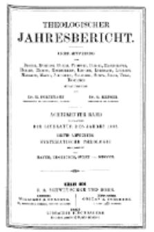 Theologischer Jahresbericht, 1898, Abteilung 3.